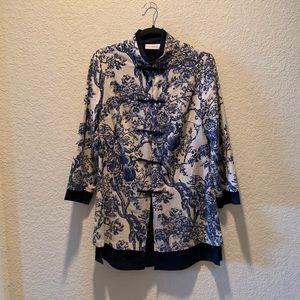 Soft Surroundings Asian inspired jacket, size S
